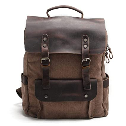 14047aabc915 Amazon.com  Aolvo Retro Laptop Backpack