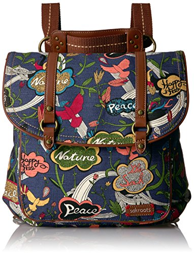 Sakroots Women's Convertible Backpack, River Peace