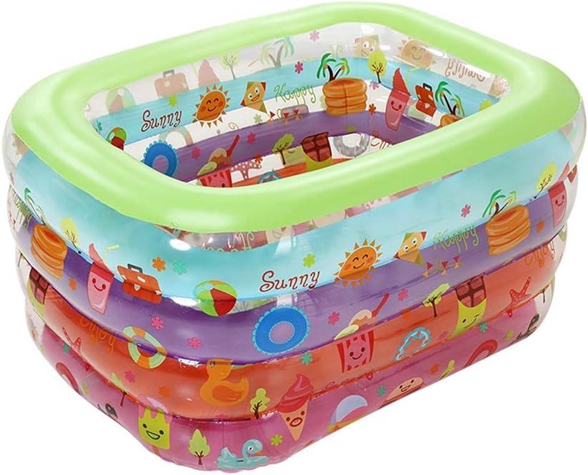 LYM & bañera Plegable Piscina para niños Inflable Baño para niños ...