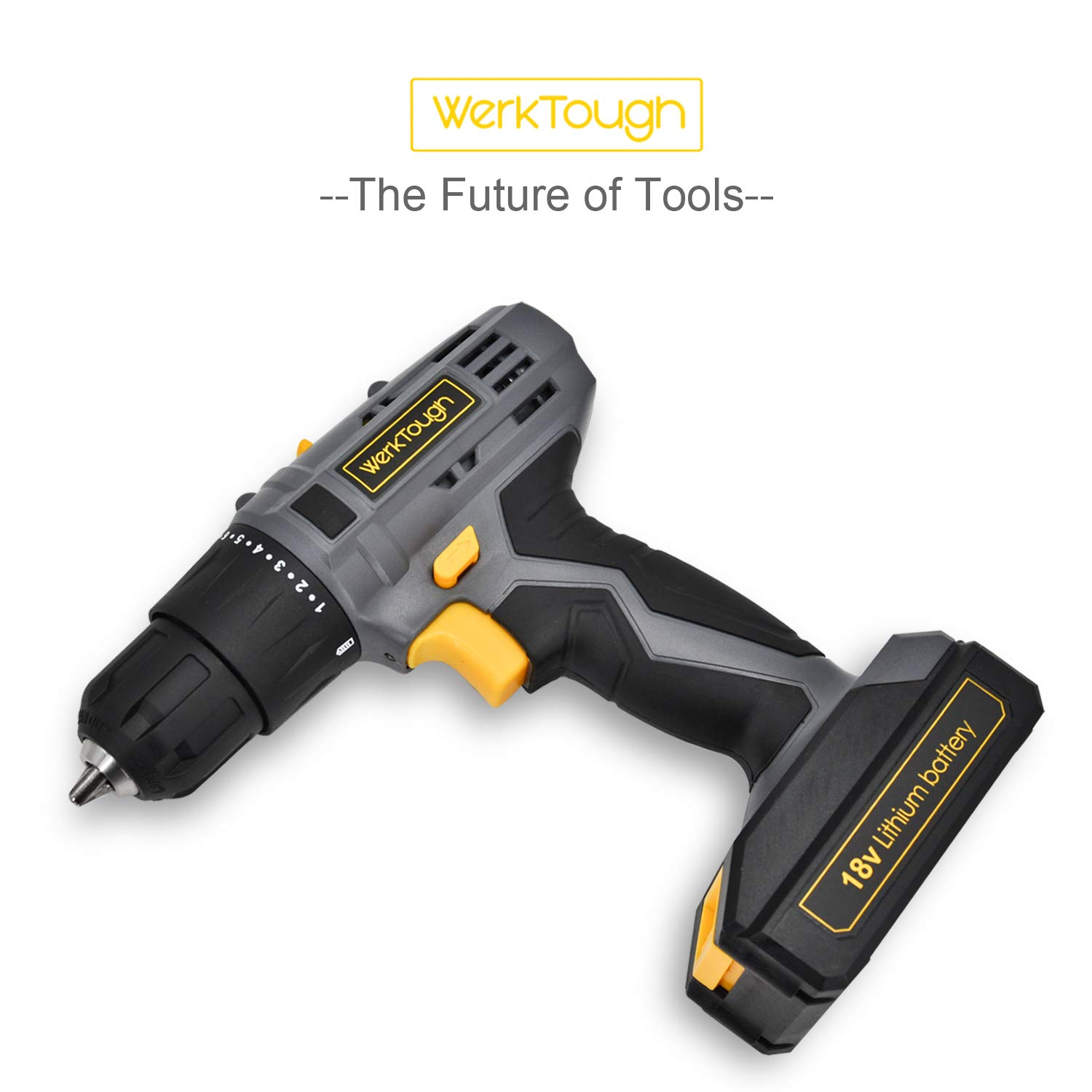 Werktough D018 18V Cordless Drill Driver 2 viable Speed Powerful Screwdriver Lion Battery