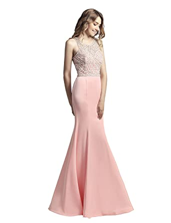 Sarahbridal Mermaid Long Prom Dresses Elegant Evening Ball Gowns Satin Dress Beads with Applique for Women