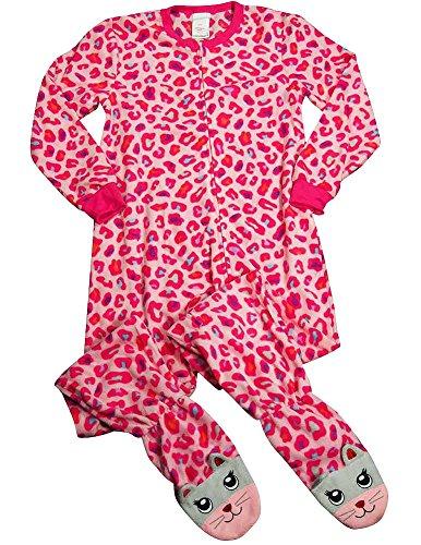 Komar Kids - Little Girls Long Sleeve Leopard Blanket Sleeper, Pink 37554-4/5