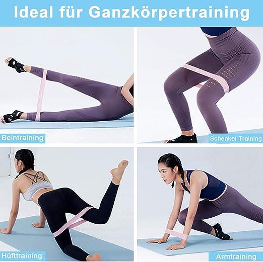5Set Fitnessband Gymnastikband Band Widerstandsband Resistance Fitness Bänder