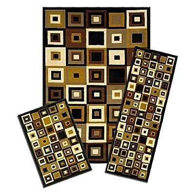 Achim Capri 3 Piece SW Tiles Indoor Rug Set