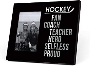 ChalkTalkSPORTS Hockey Father Words Picture Frame | Black