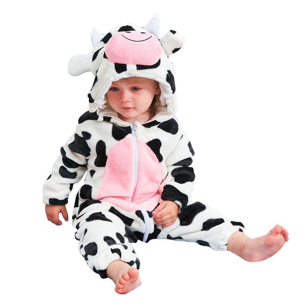 【2018年製 新品】 Beacon Pet Pet SLEEPWEAR ユニセックスベビー Cow/ Beacon 0-6 Month 0-6 B07H313P5R, 湧別町:ef2cdac0 --- a0267596.xsph.ru
