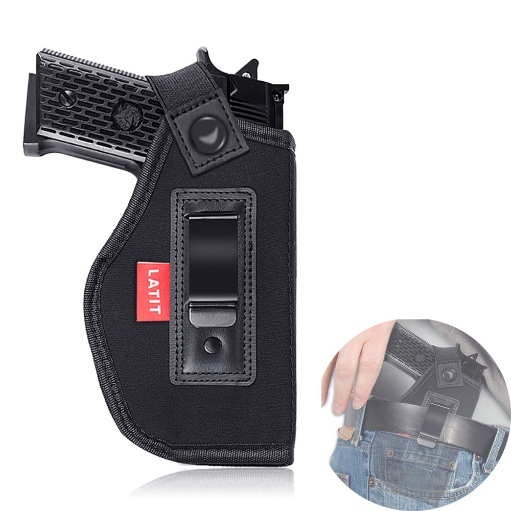 LATIT Inside The Waistband Holster, Tactical Gun Holster with Removable Thumb Strap for Quick Draw, Concealed Carry IWB Holster for Civilians