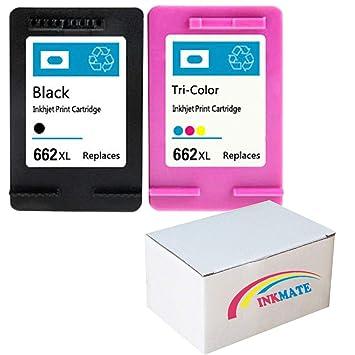 Amazon.com: INKMATE 2 Pack Recambio para HP 662XL Negro y ...
