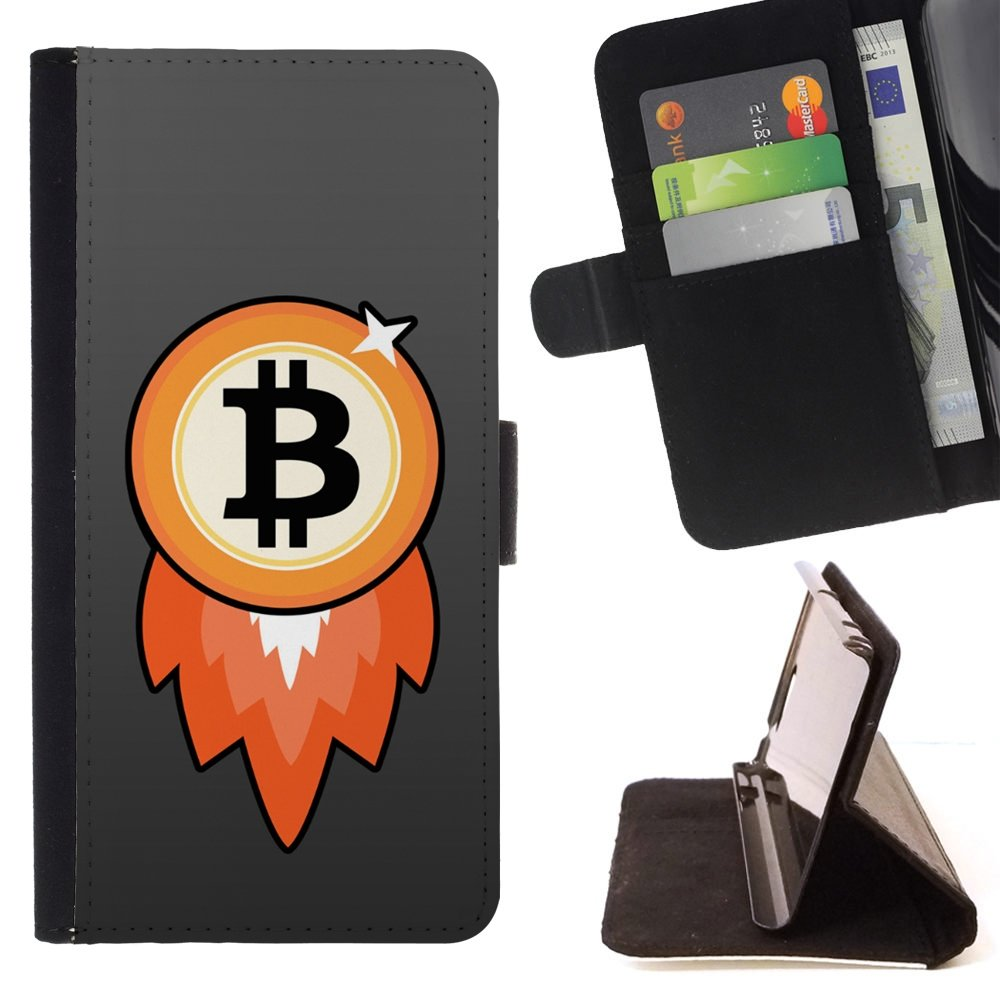 Bitcoin Chip Money Rocket - - Monedero PU titular de la ...