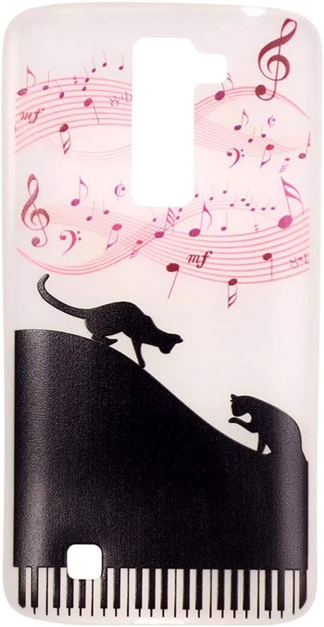 Noctilucence Colored Drawing Protective Phone Cover Scratch-resistant Shockproof TPU Phone Case for LG K7 (Music Cat)