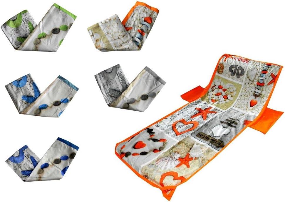 A MENITASHOP Telo Mare Coprilettino con Tasche in Microfibra Piscina con Sacchetto Fantasie e Vari Colori Blu