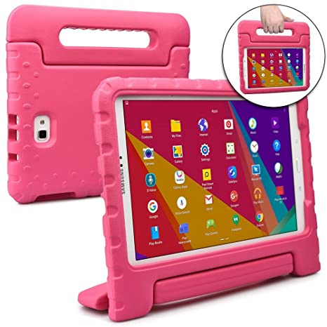 Cooper Dynamo [Rugged Kids Case] Protective Case for Samsung Tab A 10.1 S-Pen | Child Proof Cover, Stand, Handle, Screen Protector | P580 P585 (Pink)