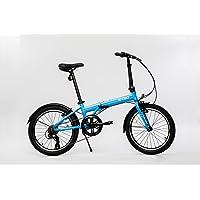 EuroMini a través de 26lb Plegable Bike-Lightweight Marco de Aluminio Original de Shimano Bicicleta Plegable de 7velocidades con Guardabarros