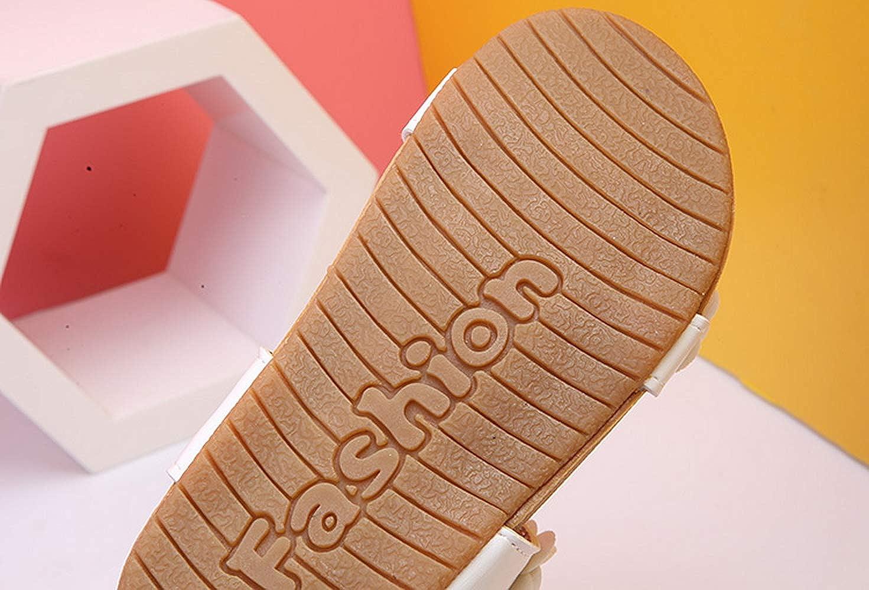 Beautoday Girls Flower Open Toe Strap Sandals Flat White Sandal Water Sandals Toddler//Little Kid