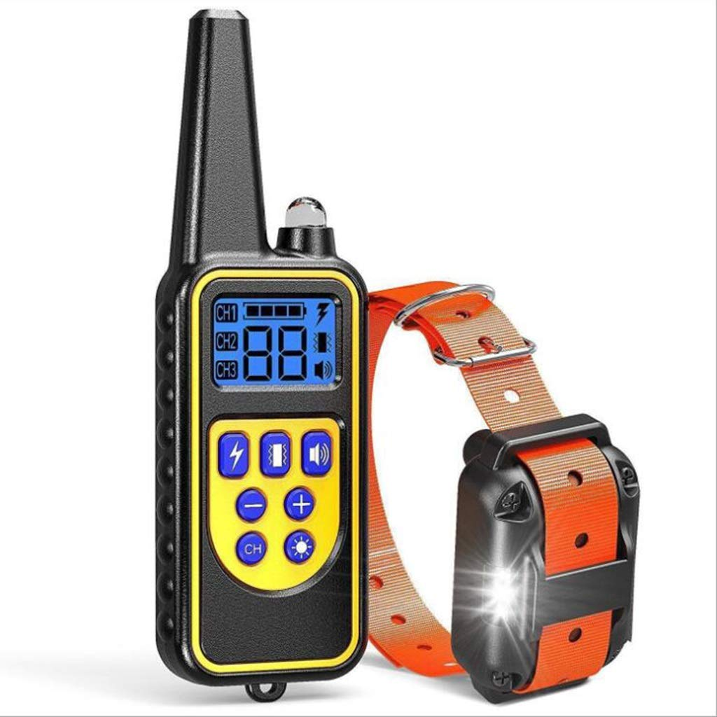 A WDP Stopper Pet Training Collar Charging Waterproof Shock Shock Sound Training Dog (color   B)