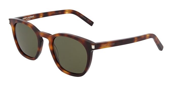 72fbd967787 Image Unavailable. Image not available for. Color: Yves Saint Laurent  sunglasses Combi (SL-28 023) Dark Havana - Grey green