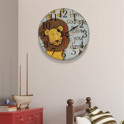 FUXINGXING Dormitorio Relojes Super Creativo silenciosa Reloj de Pared Reloj de Cuarzo,C21