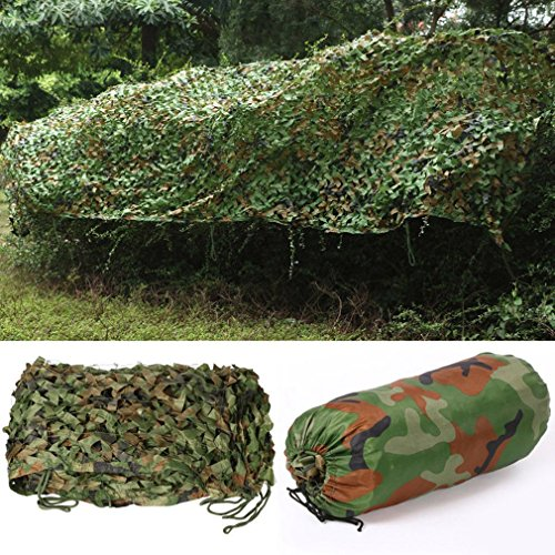 Graspwind Woodland Camouflage Netting Camo Net for Hunting Camping Shooting Military Themed Party Decoration-Camo Net Blinds Great for Sunshade (13x20ft) ()
