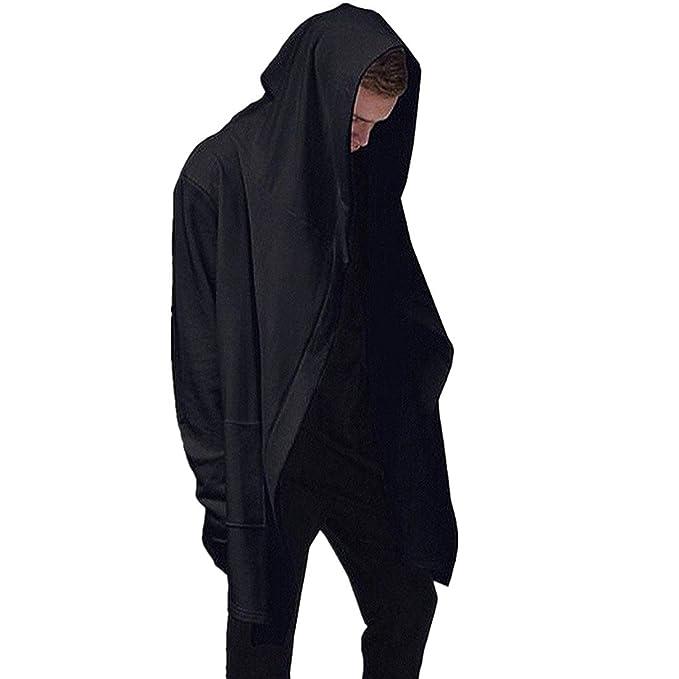 De manga larga para hombre sudadera con capucha Sudadera con capucha Cárdigan Outwear la capa de