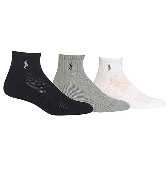 Polo Ralph Lauren Men's 3-Pack Technical Sport Socks- (10-13,