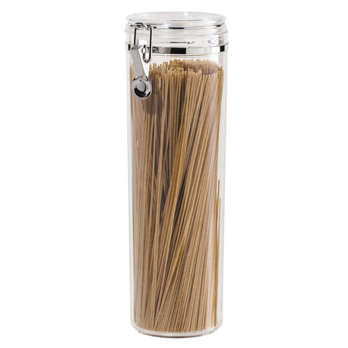 Oggi Acrylic Airtight Pasta Canister with Clamp, 58-Ounce 5370