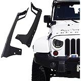 Xprit 2007 - 2017 Jeep Wrangler JK 50 Inch LED Work Light bar Steel Metal Upper Windshield Mounting Brackets For Sports, Sahara, Freedom & Rubicon