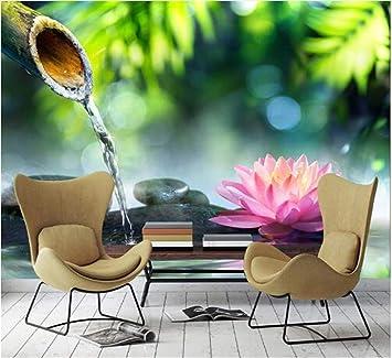 Attraktiv Benutzerdefinierte Foto Malerei 3D Bambus Stein Lotus Wohnzimmer TV  Hintergrund Wand Papier Wohnkultur Schlafzimmer Vlies Wandbild Tapete, ...