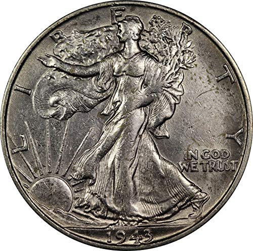 1943 U.S. Walking Liberty Half Dollar Silver Coin, About Uncirculated Condition (1943 Liberty Half Dollar)