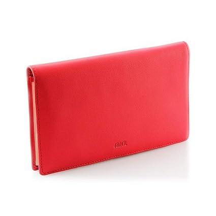 3f58d42aa728 Porte-chéquier cuir rouge vif N1650 Portefeuille femme Cuir de vachette