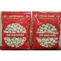 OM MAKHANA Pack of 02 100 gm Each Lotus Seeds Pop