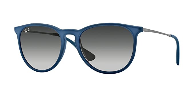 06a49f609a7 Image Unavailable. Image not available for. Colour  New Ray Ban Erika  Rubber RB4171 60028G Blue Grey ...