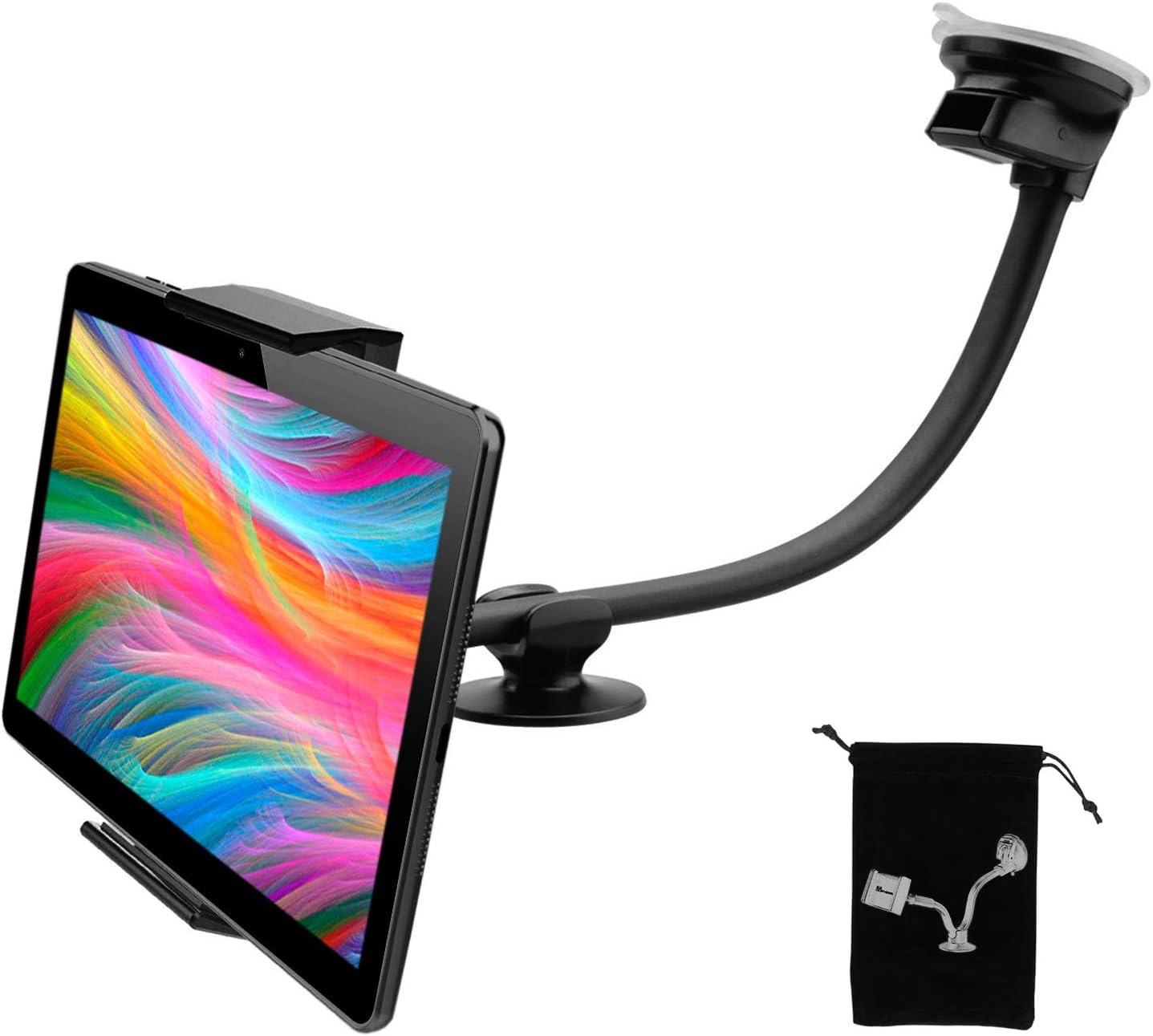 Soporte Tablet Coche salpicadero Ventosa Doble valido para Tablet pc de hasta 12