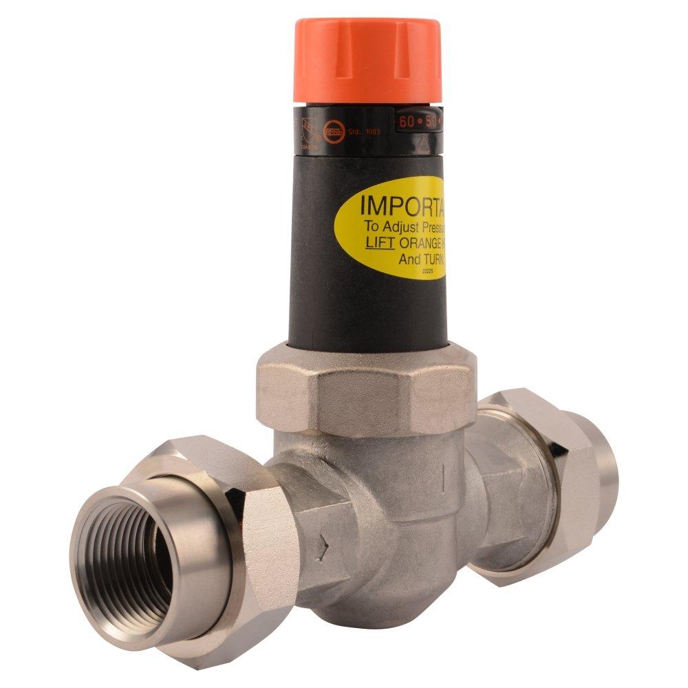 Cash Acme 22267-0045 Pressure Regulator, EB25-DU Double Union Threaded Stainless Steel Valve, 1''