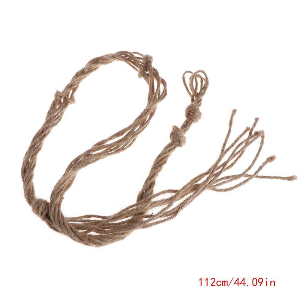 Susada Vintage Garden Rope Basket Macrame Plant Hanger Flower Pot Hanging Holder Tool