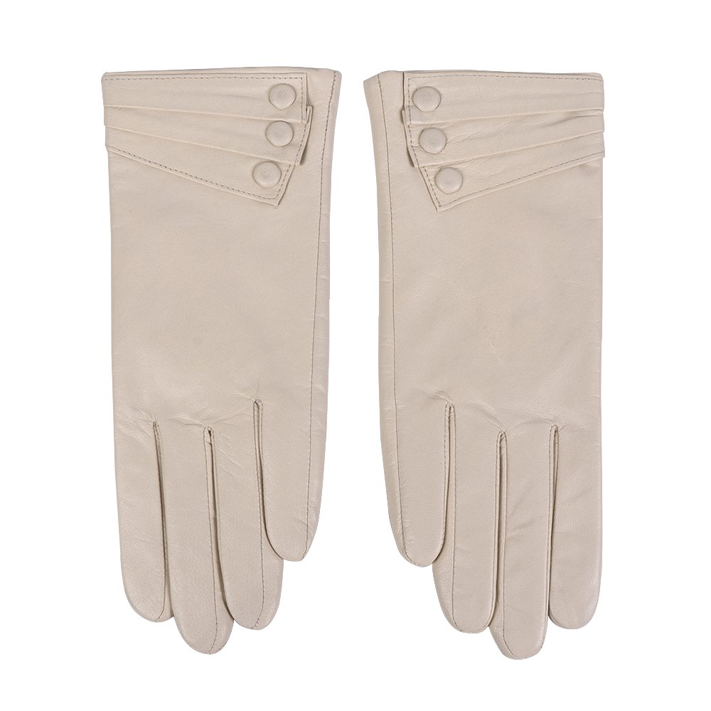 Women Leather Gloves - Nappaglo Warm Lining Winter Leather Lambskin Gloves DBE0545CF1-GPH