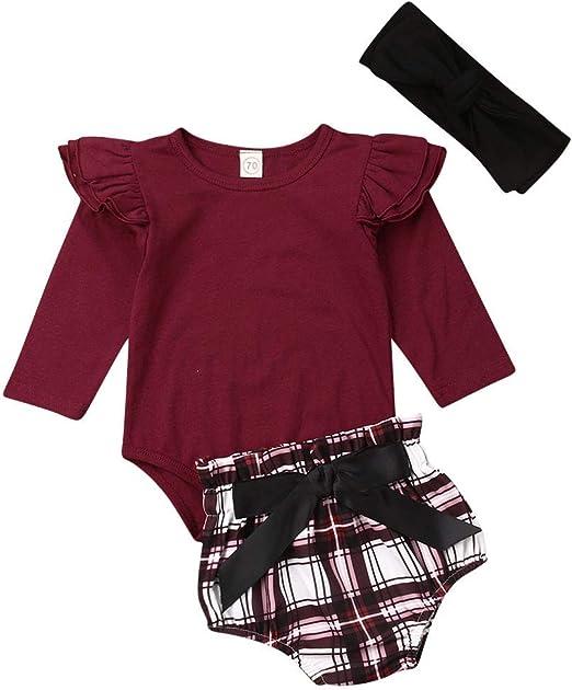 2PCS Newborn Baby Girls Striped Floral Romper Bodysuit Jumpsuit Outfits Clothes