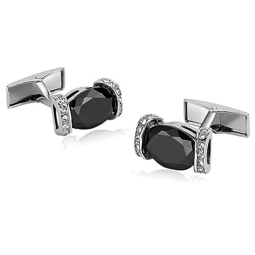 Amazon.com: Gemelos de acero inoxidable para hombre, diseño ...