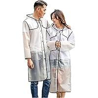 NLR Elegante y de moda del impermeable, ligero con capucha larga ropa impermeable, estilo personal Época de lluvia Ropa…