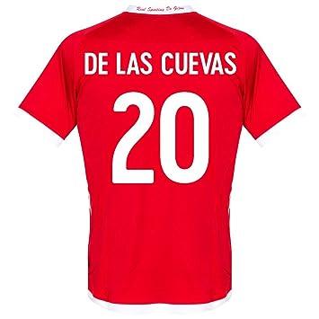 Kappa 12 - 13 Sporting Gijón Away Jersey + de Las Cuevas 20 (diseño de Abanico Printing), Rojo: Amazon.es: Deportes y aire libre