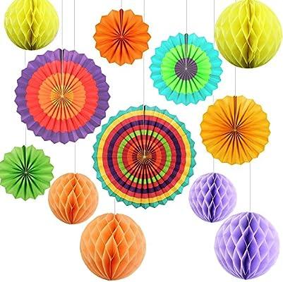 Niceclub Fiesta de papel de colores para decoración de fiestas ...