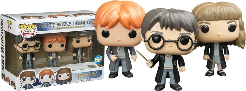 Funko - Figurine Harry Potter - Pack Hermione, Harry et Ron Pop 10cm - 0849803067274: Amazon.es: Juguetes y juegos