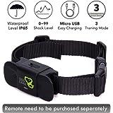Dog Training Collar Receiver - Dogcare Rechargeable Shock Collar Receiver, 100% Waterproof Training Collar with Adjustable Collar Dog (10lbs-100lbs)