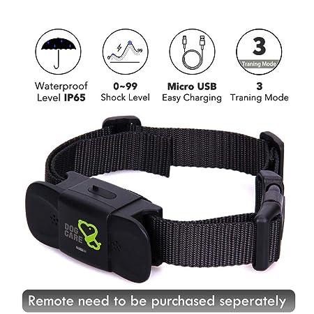 Dog Training Collar Receiver – Dogcare Rechargeable Shock Collar Receiver, 100 Waterproof Training Collar with Adjustable Collar Dog 10lbs-100lbs