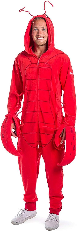 Funny Men's Halloween Lobster Costume - Red Animal Halloween Costumes Jumpsuit