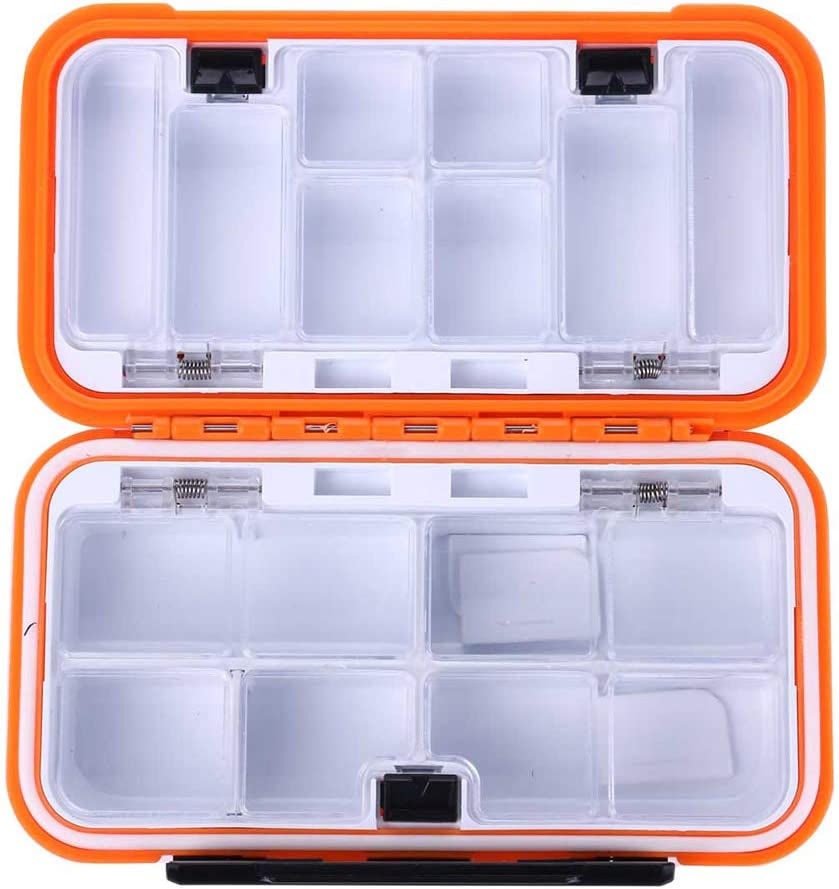 Fishing Tackle Box 10 Compartments Storage Case Fishing Lure Accessories Too HV