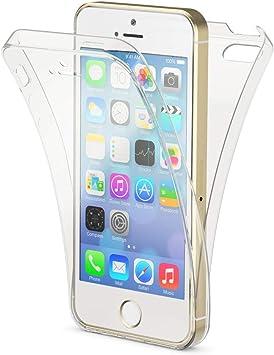 NALIA 360 Degrés Coque Compatible avec iPhone 5 / 5S / Se, Mince Silicone Full Cover Ultra Fine Housse avec Protection ecran, Avant & Arrière Case ...