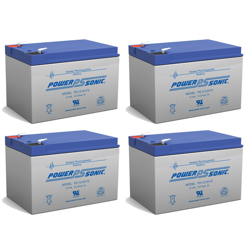PS-12120 12V 12Ah SLA battery - 4 Pack by Powersonic