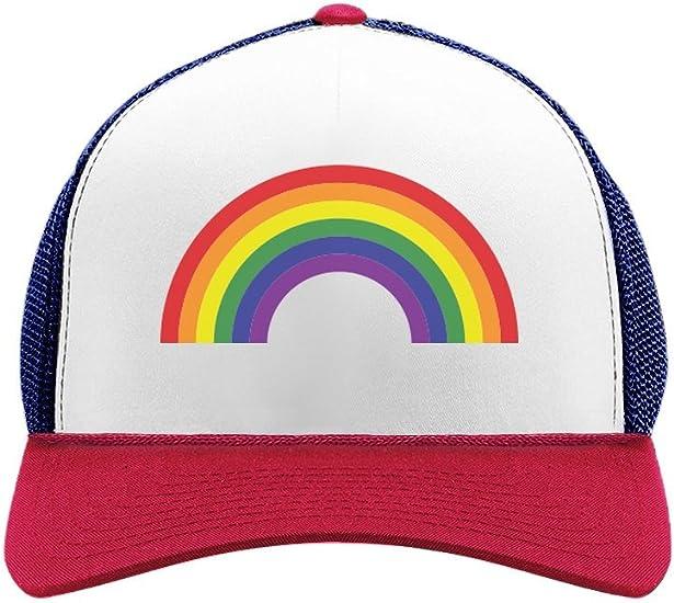 Flag Trucker Hats American Flag Baseball Hat Women/'s American Flag Trucker Hat. Red White and Blue Heart American Flag Trucker Hat