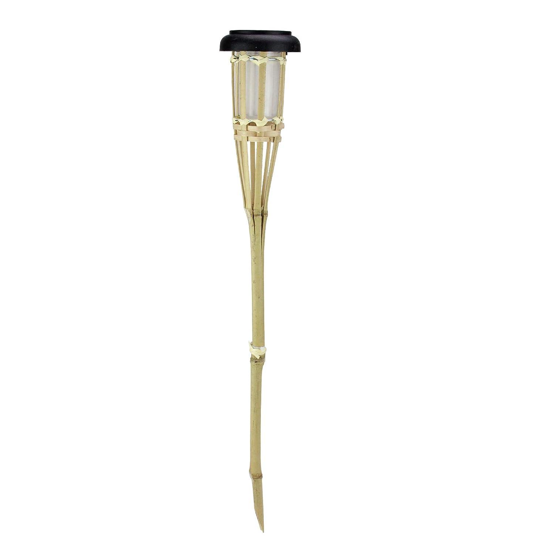 Solar tiki torch: Northlight Bamboo Lights