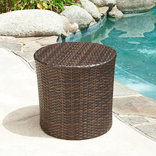 Overton Outdoor Wicker Barrel Side Table Review